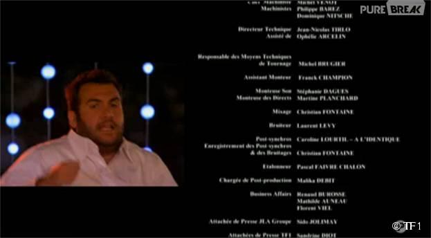 Laurent Ournac retrouve ses kilos dans l'épisode de Camping Paradis diffusé le 9 novembre 2015 sur TF1