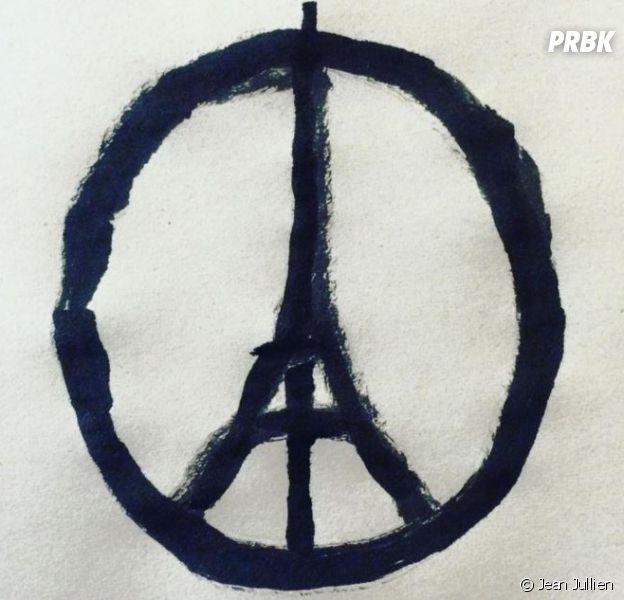 Le dessin de paix parisien de Jean Jullien après les attentats du 13 novembre 2015