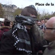 Attentats à Paris : le free hug touchant d'un musulman yeux bandés place de la République