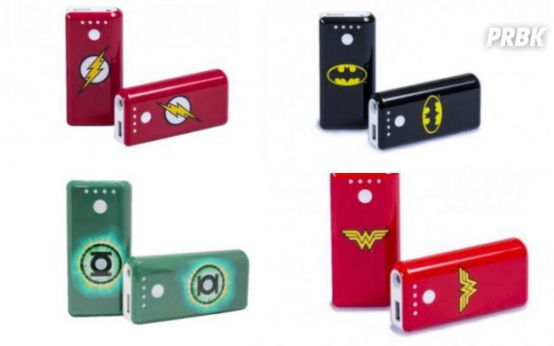 Batteries externes super-héros