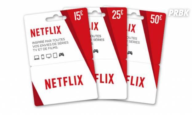 Netflix cartes cadeau
