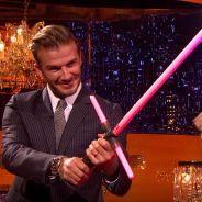 David Beckham : combat au sabre laser face à John Boyega, le nouveau héros de Star Wars