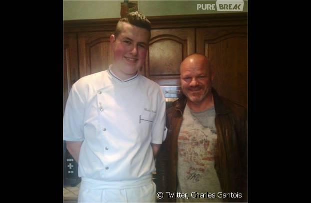Top Chef 2016 : Charles Gantois pose avec Philippe Etchebest sur Twitter