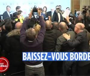 Pamela Anderson déclenche un clash entre deux journalistes à l'Assemblée nationale, le 19 janvier 2016