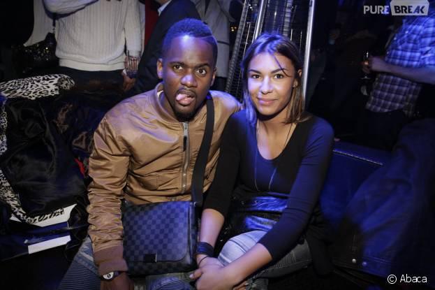Black M et sa femme Lia à l'after-party d'Amis Publics, le 1er février 2016 à Paris