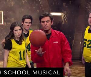 Zac Efron rend hommage à High School Musical avec Anna Kendrick, Adam DeVine et James Corden dans le Late Late Show with James Corden le 7 février 2016