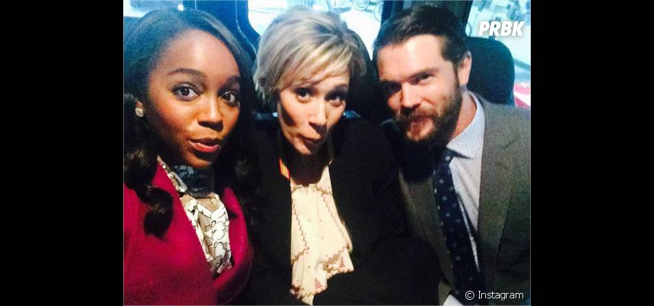 How To Get Away with Murder : Aja Naomi King, Liza Weil et Charlie Weber sur une photo