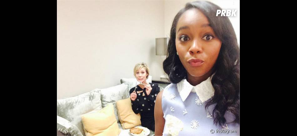 How To Get Away with Murder : Aja Naomi King et Liza Weil sur une photo
