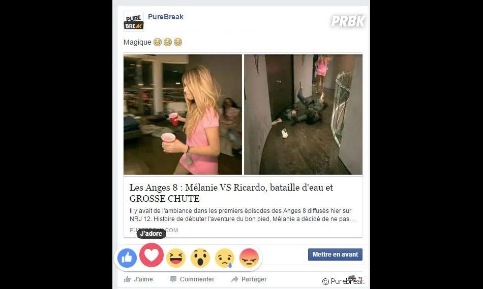 """Facebook : le nouveau bouton """"j'adore"""""""