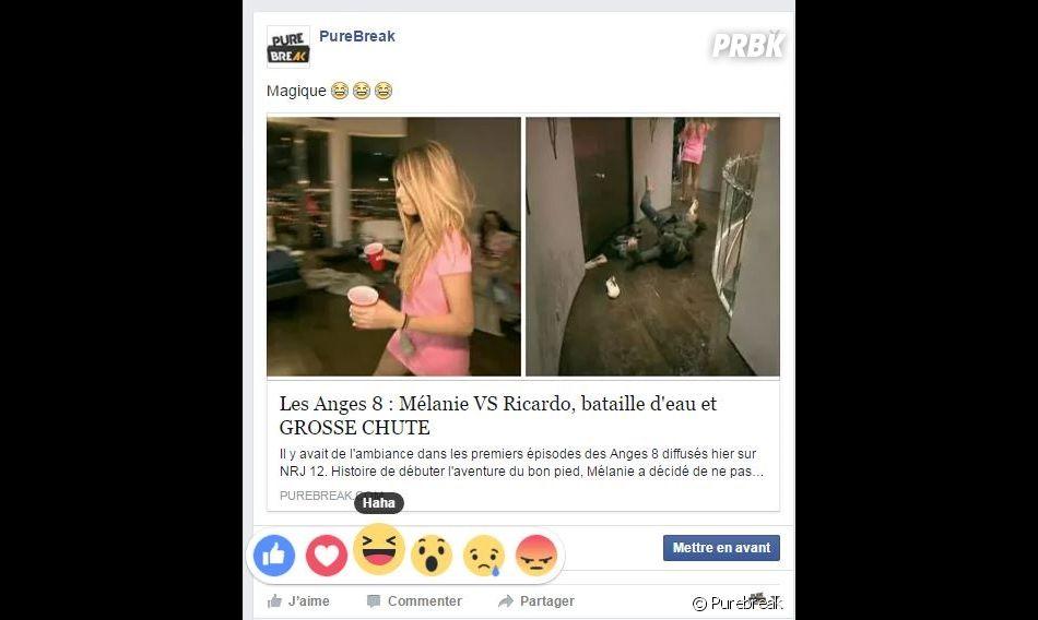 """Facebook : le nouveau bouton """"haha"""""""