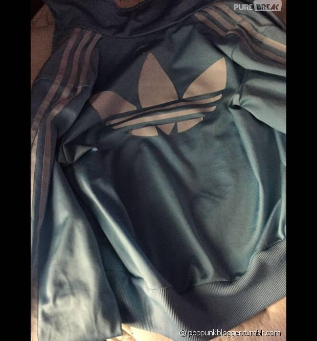 Veste adidas noir bande blanche
