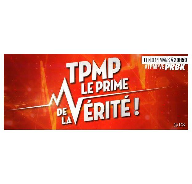 """Cyril Hanouna aux commandes d'un """"prime de la vérité"""" de TPMP, le 14 mars 2016 en direct sur D8"""