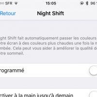 iPhone - Night Shift, la mise à jour qui va changer vos nuits : ciao les lumières bleues !