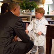 Kate Middleton : son fils Prince George reçoit Barack Obama et sa femme... en pyjama