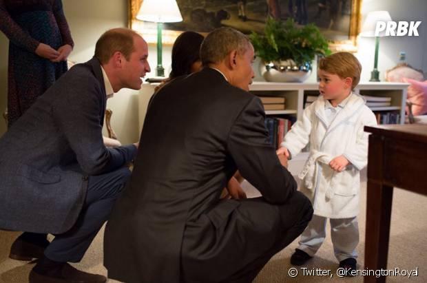 Le Prince George accueille Barac Obama en pyjama, OKLM.