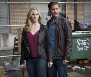 The Vampire Diaries saison 7, épisode 20 : Caroline (Candice Accola) et Alaric (Matt Davis)