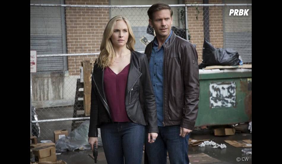 The Vampire Diaries saison 7, épisode 20 : Caroline (Candice Accola) et Alaric (Matt Davis)