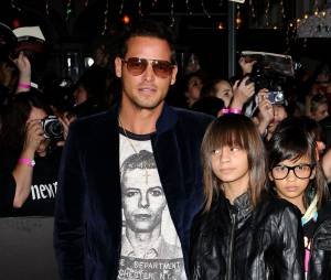 Justin Chambers et ses filles Maya et Kalia