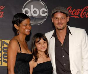 Justin Chambers, sa femme Keisha et l'une de leurs filles