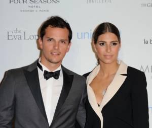 Laury Thilleman officialise avec son petit-ami Juan Arbelaez au Global Gift Gala le 9 mai 2016 à Paris