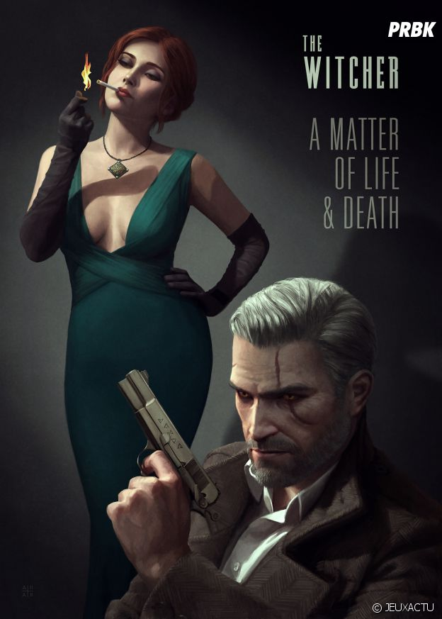 THe Witcher 3 en mode Film Noir