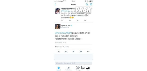 Ayem Nour clashe une internaute sur Twitter
