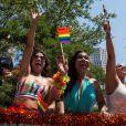 Orange is the new black : Dayanara, Gloria, Big Boo et Poussey défilent lors de la Gay Pride de New-York le 26 juin 2016