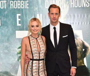 Margot Robbie et Alexander Skarsgard à l'avant-première de Tarzan le 5 juillet 2016 à Londres
