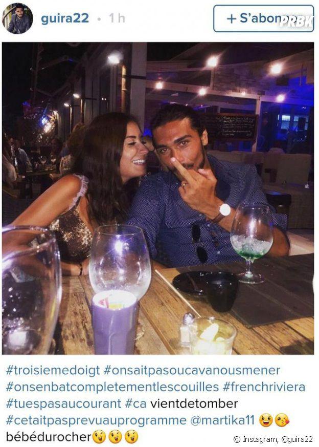Julien Guirado et Martika Caringella s'affichent assez proches sur Instagram
