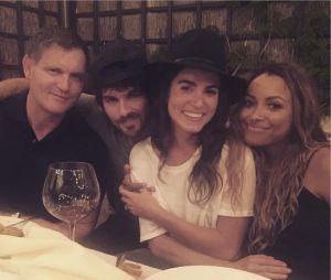 The Vampire Diaries saison 8 : Ian Somerhalder, Nikki Reed et Kat Graham à un diner avant le tournage