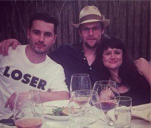 The Vampire Diaries saison 8 : Michael Malarkey et Zach Roerig à un diner avant le tournage