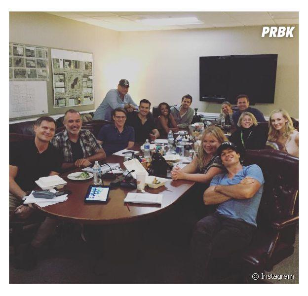 The Vampire Diaries saison 8 : les acteurs se retrouvent avant le tournage