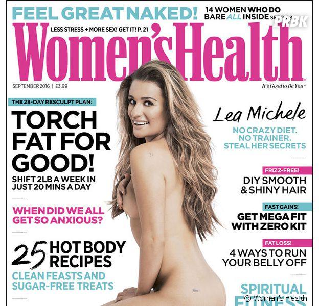 Lea Michele entièrement nue en Une de Women's Health