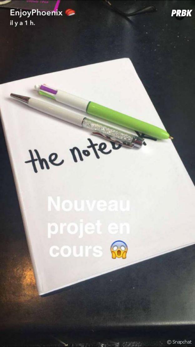 EnjoyPhoenix : Après #EnjoyMarie et Carnet de route, un nouveau projet littéraire dévoilé sur Snapchat ?