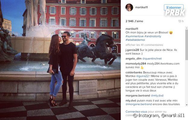 Martika Caringella et Julien Guirado (La Villa des Coeurs Brisés 2) complices sur Instagram