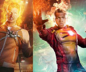 Legends of Tomorrow : les deux Firestorm Robbie Amell (à gauche) et Franz Drahem (à droite)