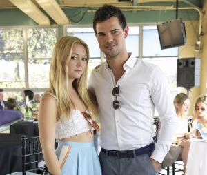 Taylor Lautner et Billie Lourd lors d'un brunch