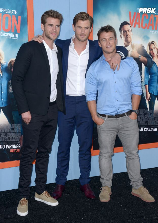 Chris, Liam et Luke Hemsworth réunis sur un tapis rouge