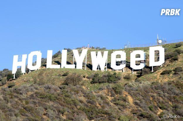 Le panneau Hollywood est devenue Hollyweed dans la nuit du Nouvel An