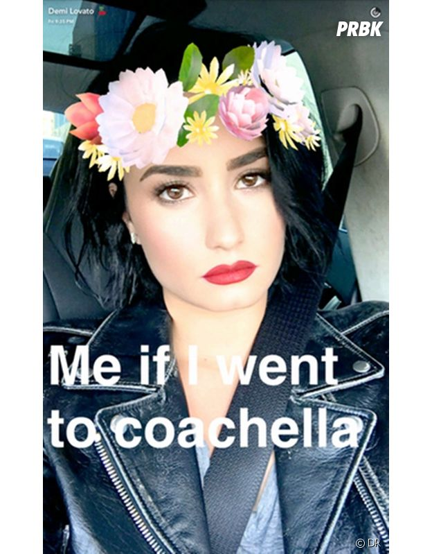 Snapchat : le filtre couronne de fleurs très populaire