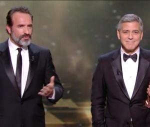 César 2017 : quand Jean Dujardin et Georges Clooney se moquent de Donald Trump sur scène