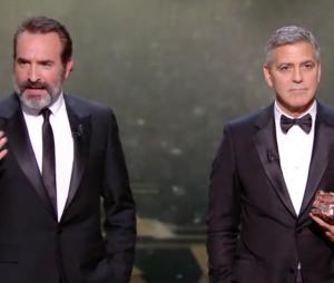 Jean Dujardin joue les mauvais traducteurs pour George Clooney aux César 2017