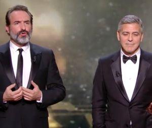 César 2017 Jean Dujardin joue les mauvais traducteurs pour George Clooney et en profite pour se moquer de Donald Trump