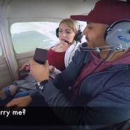 Avion + demande en mariage + mal de l'air ? Mauvaise idée 🤢