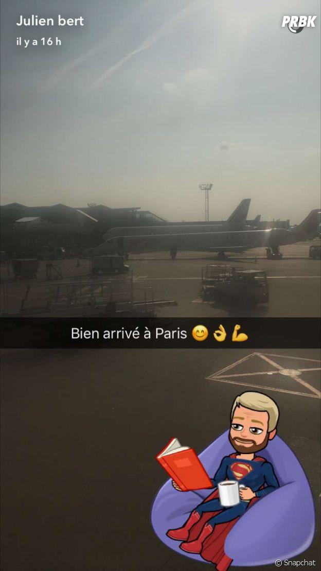 Julien Bert (Les Anges 9) de retour à Paris