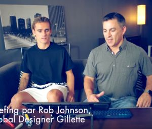Antoine Griezmann se met à la création d'un rasoir Gillette