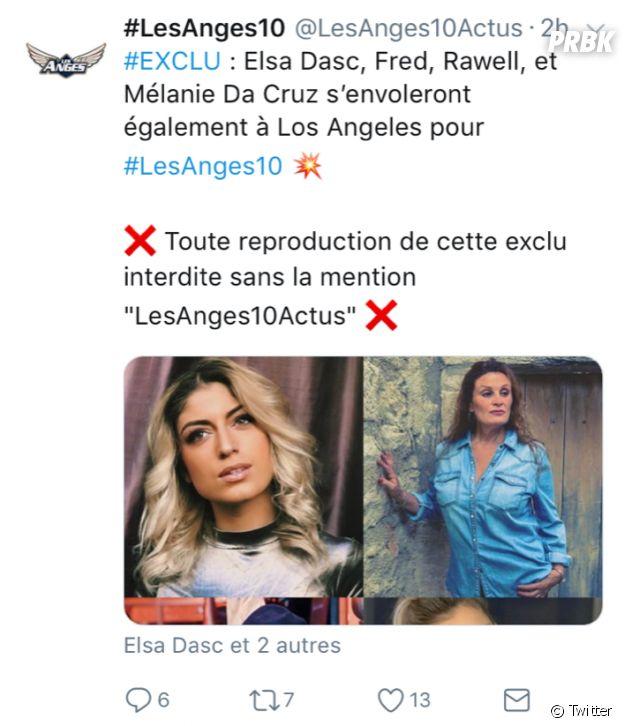 Elsa Dasc, Rawell, Fred et Mélanie Da Cruz dans Les Anges 10 ?