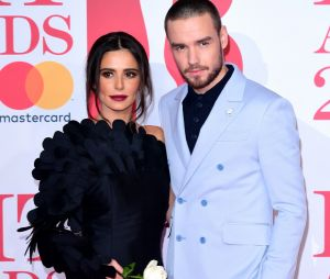 Liam Payne et Cheryl Cole prennent la pose aux BRIT Awards 2018 le 21 février à Londres
