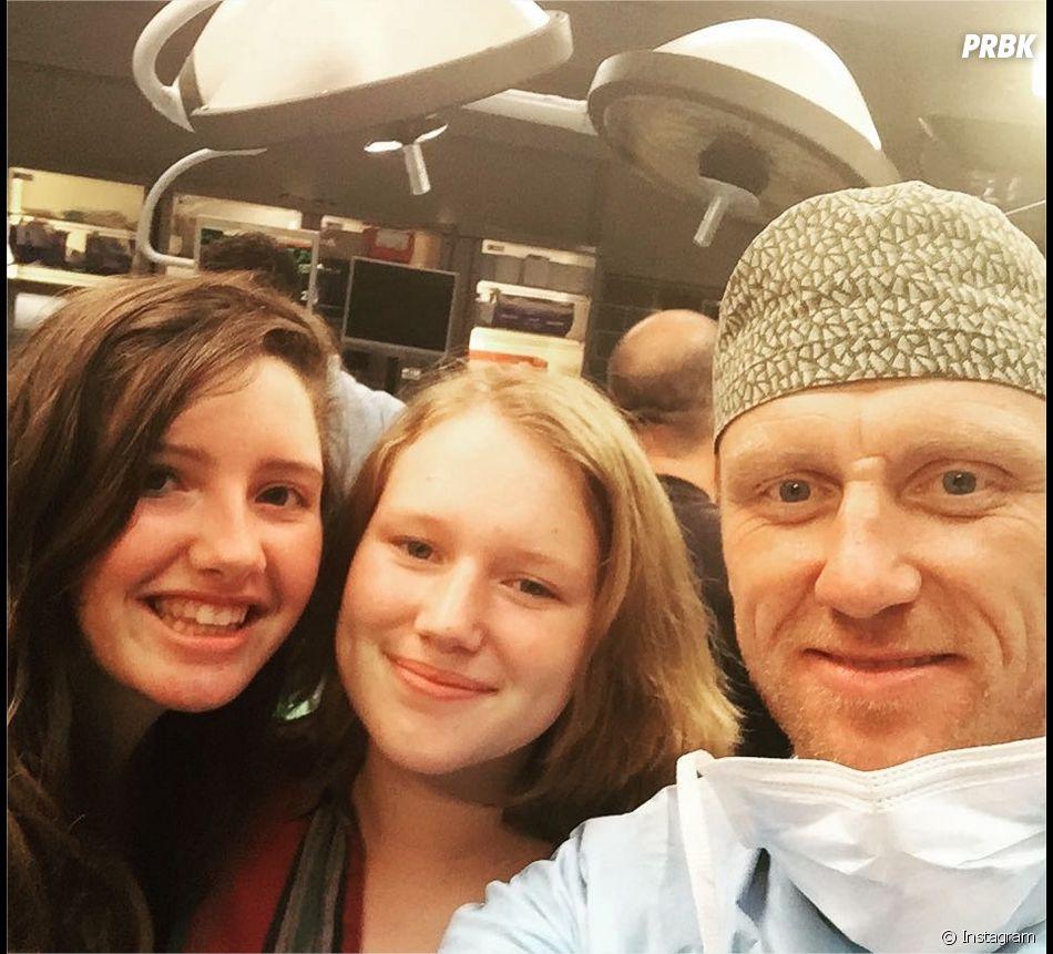 Kevin McKidd (Grey's Anatomy) et sa fille Iona (au centre)