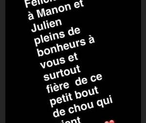 Julien Tanti et Manon Marsault parents : Les Marseillais les félicitent pour l'arrivée du bébé Tiago !